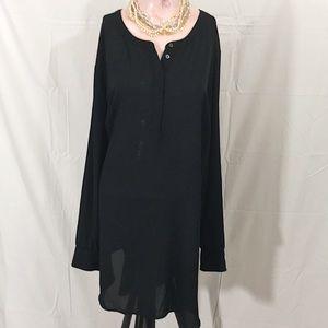 Lane Bryant Black Shirt Dress